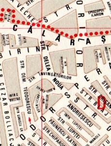 Harta străzii Delea Nouă și a împrejurimilor