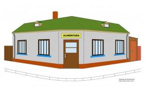 Magazin alimentar pe colțul dintre Calea Călărașilor și str. Delea Veche