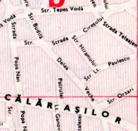 Harta străzii Delea Veche și a împrejurimilor