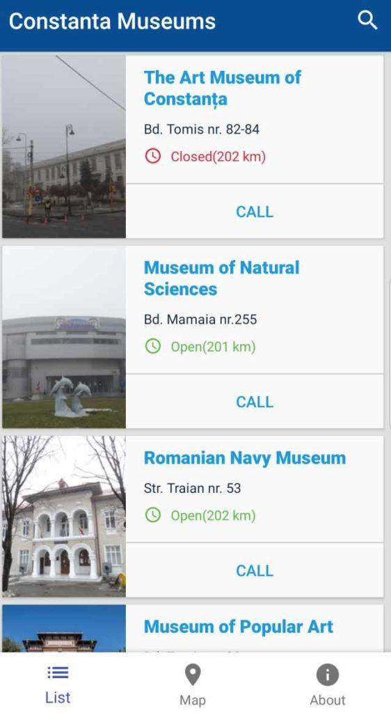 aplicatie muzee Bucuresti Cluj Napoca Constanta