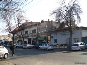 Clădiri vechi pe Calea Rahovei, aproape de Piața Coșbuc