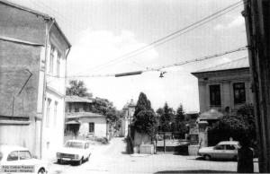 Str. Nicolae Jitniță văzută dinspre str. Sfântul Ioan Nou