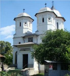 Biserica Delea Veche, văzută din interiorul curții
